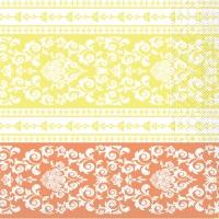 Tissue Servietten 33x33 cm - Pascal (aprikot/vanille)