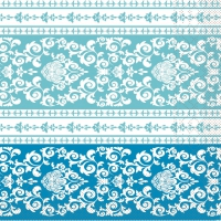 100 Tissue Lunch Servietten - Pascal (aqua-blau)