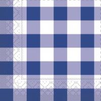 Tissue Servietten 33x33 cm - Karo  (blau)