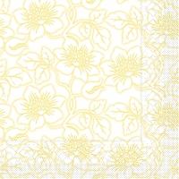 Tissue Servietten 33x33 cm - Hedda (gelb)