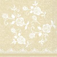 Tissue Servietten 33x33 cm - Spitze (beige)