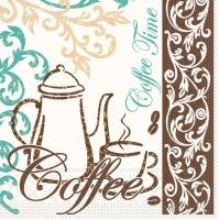 Tissue Servietten 33x33 cm - Coffee / Tea