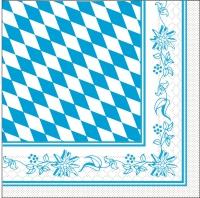 Tissue Servietten 33x33 cm - Bayern  33-er Format