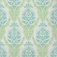 Tissue Servietten 40x40 cm - Doris  (grün/blau)