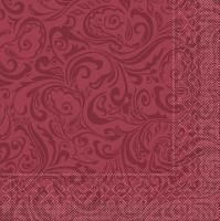 Tissue Servietten 40x40 cm - Lias  (bordeaux)