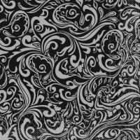 Tissue Servietten 40x40 cm - Lias (schwarz/silber)