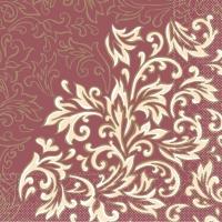 Tissue Servietten 40x40 cm - Delia  (bordeaux/creme)