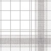 Tissue Servietten 40x40 cm - Nadeem (grau)