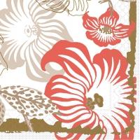 Tissue Servietten 40x40 cm - Mara  (rot/braun)
