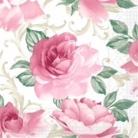 Tissue Servietten 40x40 cm - Rosalie (bordeaux)