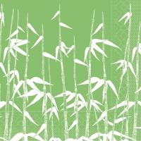 Tissue Servietten 40x40 cm - Grüner Bambus (Asien)