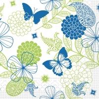 Tissue Servietten 40x40 cm - Natalie (blau/grün)