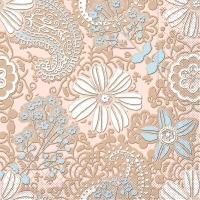 Tissue Servietten 40x40 cm - Gwenn  (braun/hellblau)
