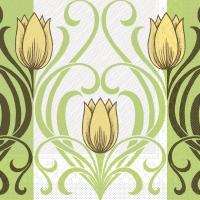 Tissue DeLuxe Servietten - Annika (gelb/braun)