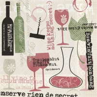 Tissue DeLuxe Servietten - Bon Vin
