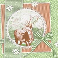 Tissue DeLuxe Servietten - Finne (grün)