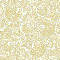 Linclass Servietten 40x40 cm - Jordanien (Weiß/Gold)