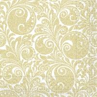 Tissue Servietten 33x33 cm - Jordanien (Weiß/Gold)