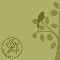 Linclass Servietten 40x40 cm - Liebe Natur-Baum (oliv)