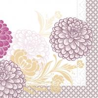 Tissue Servietten 33x33 cm - Clarissa  (violett)