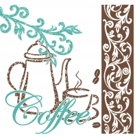 Tissue Servietten 25x25 cm - Coffee/Tea