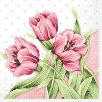 Tissue Servietten 33x33 cm - Elsa (rosa/grün)