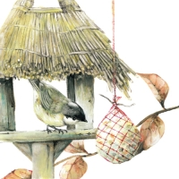 Lunch Servietten Birdhouse