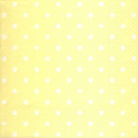 Lunch Servietten Hearts&Dots light yellow