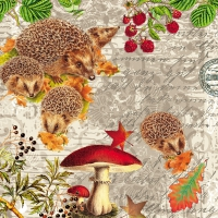 Servietten 33x33 cm - Hedgehog Family