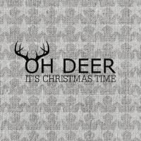 Servietten 25x25 cm - Oh Deer, silver