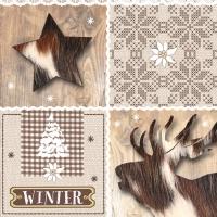 Servietten 33x33 cm - Wintertime