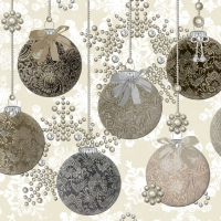 Servietten 33x33 cm - Baubles Royal