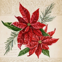 Lunch Servietten Vintage Poinsettia