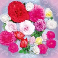 Servietten 33x33 cm - Duft der Rosen