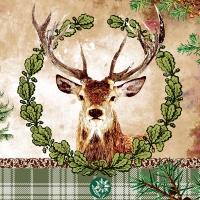 Servietten 33x33 cm - Deer Portrait