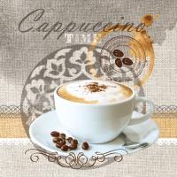 Servietten 33x33 cm - Cappuccino Time