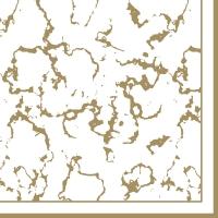 Servietten 33x33 cm - Marble gold