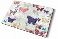 Kork Tischsets Romantic Butterflies