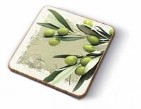 Kork Untersetzer - Griechische Oliven