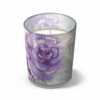 Glaskerze Miracle Roses