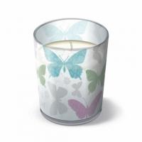 Glaskerze Soft butterflies