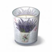 Glaskerze Flowering Lavender 