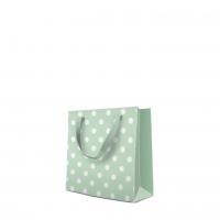 10 Geschenktaschen - Dotsy Check (mint) square