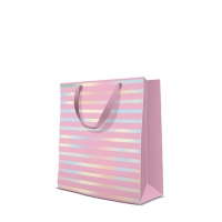 10 Geschenktaschen - Reflex Stripes  pink