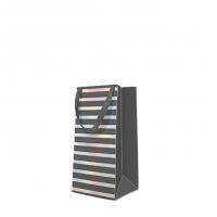 10 Geschenktaschen - Reflex Stripes  grey