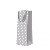 10 Geschenktaschen - Dotsy Check  grey bottle