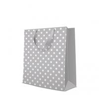 10 Geschenktaschen - Dotsy Check  grey large