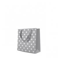 10 Geschenktaschen - Dotsy Check  grey square