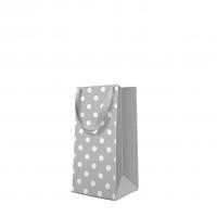 10 Geschenktaschen - Dotsy Check  grey narrow