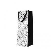 10 Geschenktaschen - Dots Texture  black bottle